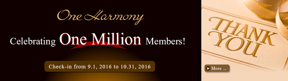 Thanks to all of you, One Harmony Celebrates One Million Members!
